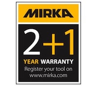 Image result for mirka 2+1 warranty