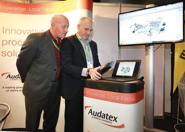 Pictured at the Audatex stand at the Auto Trade EXPO 2015 exhibition in Citywest, were Chris Clifdon and Martin Rowley from Audatex.