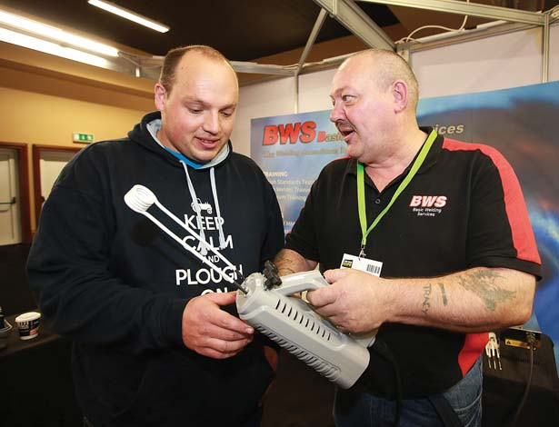 Pictured at the BWS [ Basic Welding Services]  stand at the Auto Trade EXPO 2015 exhibition in Citywest, were Thomas McCormack from MF Engineers and Mark Allen.