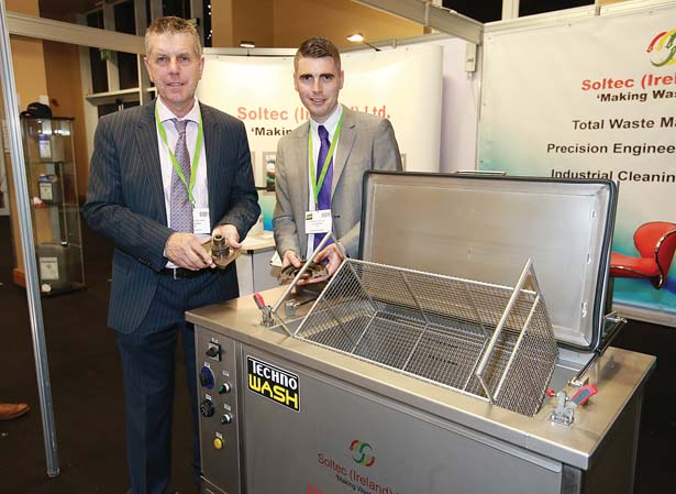 Pictured at the Soltec Ire Ltd  stand at the Auto Trade EXPO 2015 exhibition in Citywest, were Michael Corcoran and Thomas Corcoran.