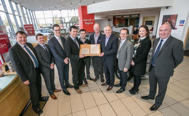 Toyota dealers earn prestigious Bodyshop awards