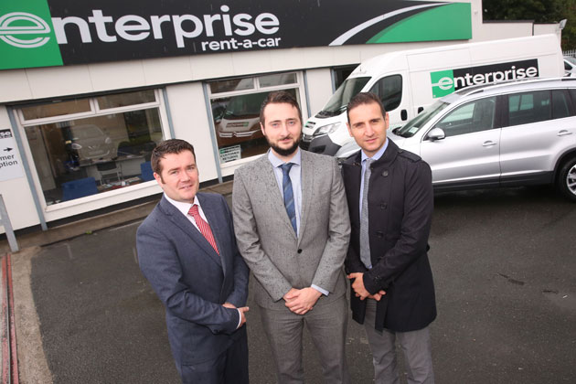 Area Manager, Alan Duddy, Branch Manager Trevor Yeomans and Group Rental Manager, Tony Nigrelly