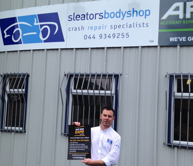 Steven O'Hara, Bodyshop Manager, Sleators Bodyshop, Mullingar, Co. Westmeath.