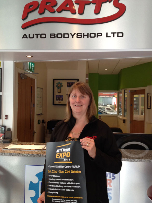 Alma Pratt, Pratts Auto Bodyshop, Carlow