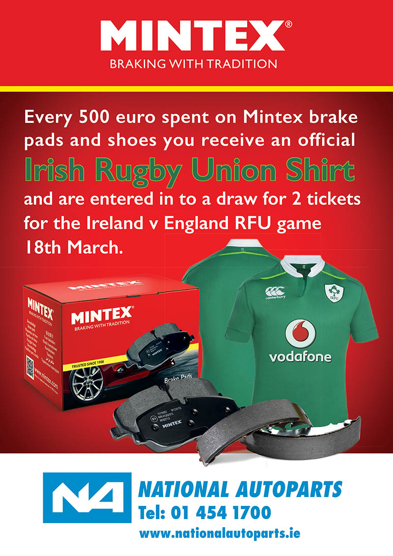 Win Tickets To Ireland V England With National Autoparts And Mintex